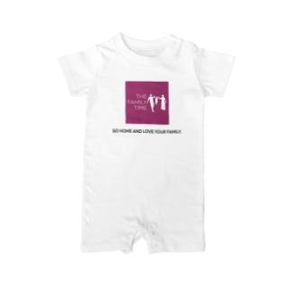家族の時間(THE FAMILY TIME) ピンク Baby rompers