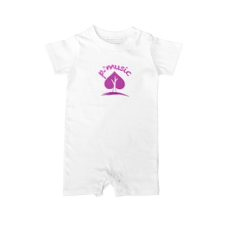p-musicオリジナルグッズ Baby rompers