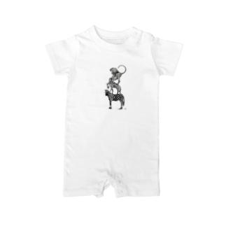 ワイルドブレーメン(Love All Wild Animals) Baby rompers
