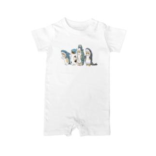 サメ図鑑 Baby rompers