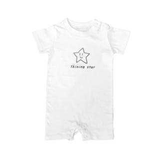 輝く星 Baby rompers