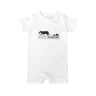 """design T-shirt shop """"catnap""""の#01 パン泥棒猫「ANARCHY~無秩序~」 Baby rompers"""