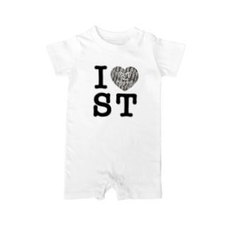SHOP W SUZURI店のI ♥ Saba Tora ベイビーロンパース Baby rompers