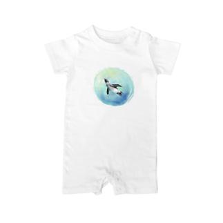空飛ぶペンギン Baby rompers