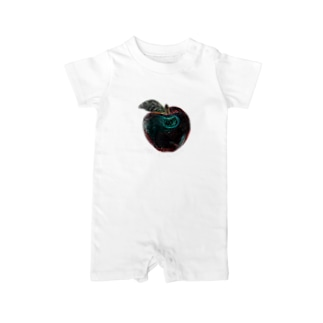 Apple in the future (Black Background ver) Baby rompers