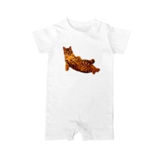 Elegant Cat ① Baby rompers
