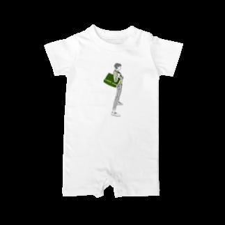 """中村香月の""""Green"""" いけめんファッショニスタ Baby rompers"""