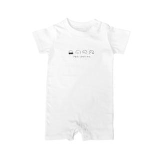 ゆるロゴ ロンパース Baby rompers