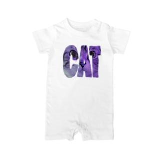 CATなデザイン Baby rompers