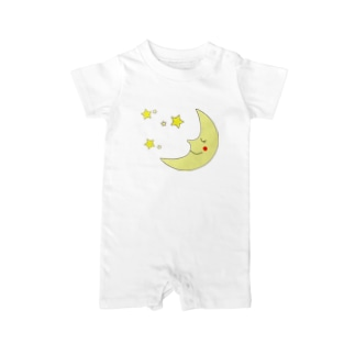 月と星-Moon Shine- Baby rompers