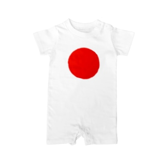 日本代表シンボル「日の丸」 Baby rompers