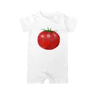 リアルなトマトのイラスト Baby rompers