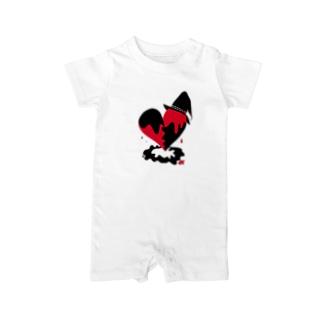 魔女の心臓 Baby rompers