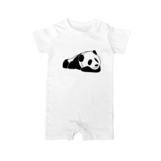 ジャパニーズスタンダードのおやすみパンダ Baby rompers