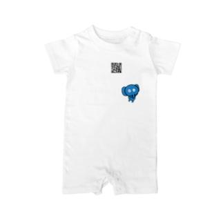 青い象の日常 Baby rompers