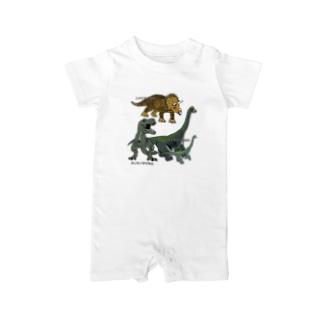 恐竜ガオー Baby rompers