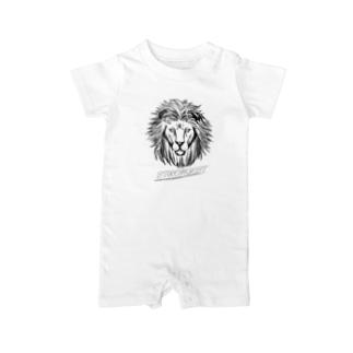 強そうなライオン線画 Baby rompers