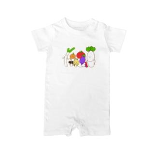 野菜ファミリー Baby rompers