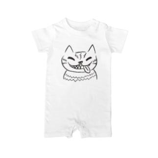 チェシャ猫のべっ Baby rompers