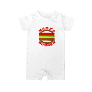 MAME'S_BURGER ロゴ Baby rompers