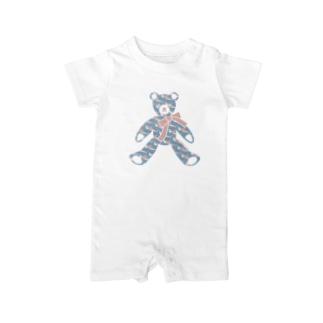 〈 #みんなSAME 009/365 〉テディベア好きのためのSAME Baby rompers