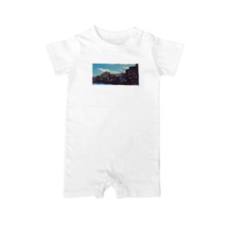 雲と風景の服 Baby rompers