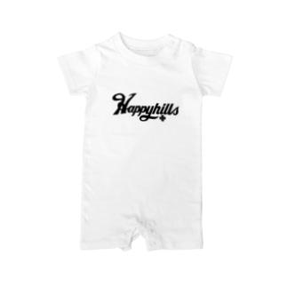 Happyhillsふくおか(黒) Baby rompers