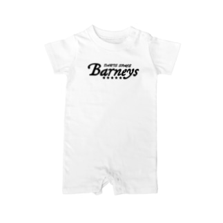 Barneyロゴ ブラック Baby Rompers