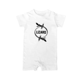LIZARD-トカゲ- Baby rompers