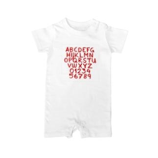 ABC…789 Baby rompers