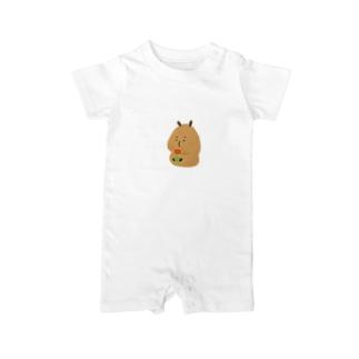 Capybara「Pokke」赤チューリップ Baby rompers