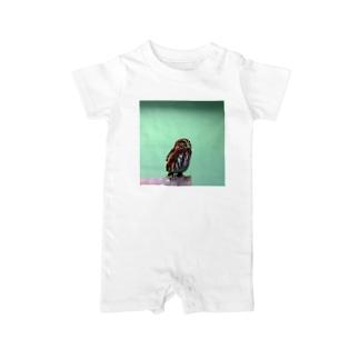 フクロウ Baby rompers