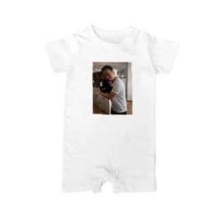 体モノマネTシャツ入手記念 Baby rompers