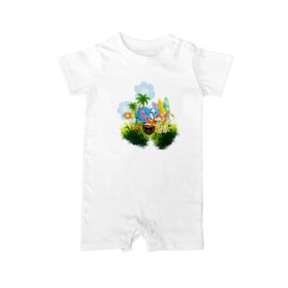 癒しの自然 Baby Rompers