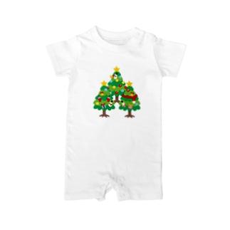CT89 森さんのクリスマスツリーB Baby rompers