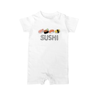 Sugar-ginger-cookie(チロル)のSUSHI. Baby rompers