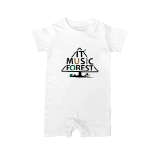 IT MUSIC FOREST チャリティーグッズ Baby rompers