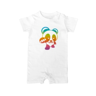 BASEfor PANDA Rainbow Baby rompers