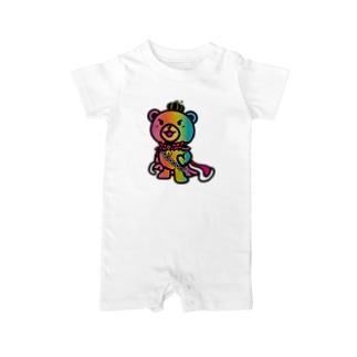 BASEfor BEAR Rainbow Baby rompers