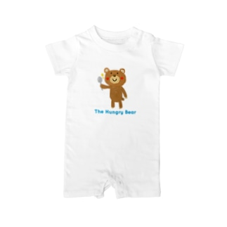 The Hungry Bear ロゴあり Baby rompers