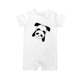 寝そべるパンダ Baby rompers