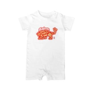 sumi amaneの恐竜グッズ・サイカニア Baby rompers