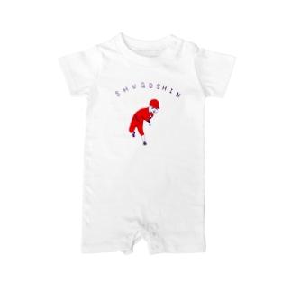 野球Tシャツ「守護神」 Baby rompers