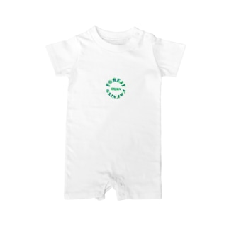 FORESTGREEN【suzuriOriginal】 Baby rompers