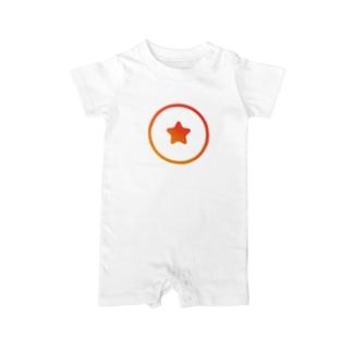 高専入試/高専のための学習塾ナレッジスター のナレッジスター公式グッズ(ロゴ大) Baby rompers