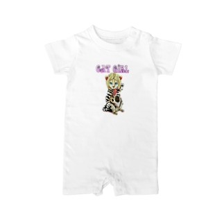 CAT GIRL Baby rompers