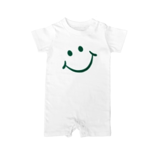 SMILE_GREEN Baby rompers