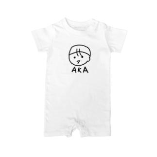 ほのぼのAKAさん 赤ちゃんイラスト Baby rompers