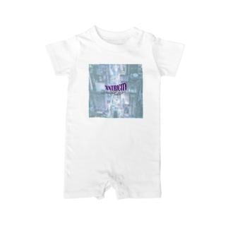 えきせんとりしてぃ-正方形(文字小さめ) Baby rompers