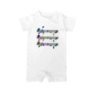 ポップロゴ。(Triple) Baby rompers